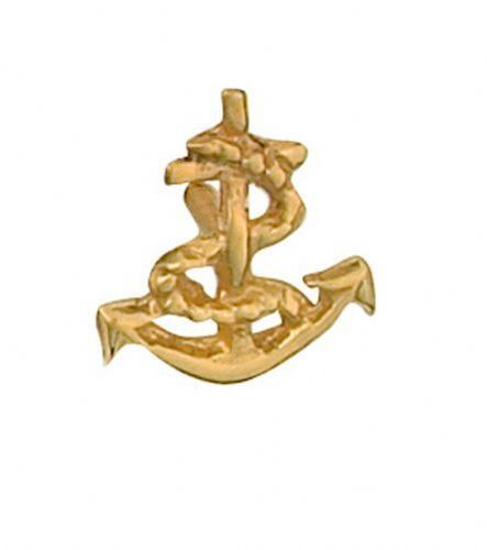 Anchor Tie Tack Tie Pin Yellow Gold Made To Order in Jewellery Quarter B''ham